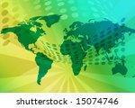 technology world map... | Shutterstock . vector #15074746