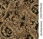 seamless pattern with paisley... | Shutterstock .eps vector #1507499018
