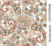 paisley seamless pattern for... | Shutterstock .eps vector #1507499048