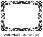 black ribbon frame isolated on... | Shutterstock . vector #1507513265