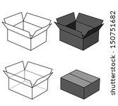 box vector  | Shutterstock .eps vector #150751682