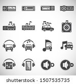 car audio related icons on...   Shutterstock .eps vector #1507535735