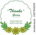 lettering thanksgiving hand... | Shutterstock .eps vector #1507543355