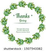 design green leaves frame and... | Shutterstock .eps vector #1507543382