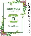 beautiful invitation card of... | Shutterstock .eps vector #1507543475