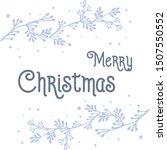 design for greeting card merry... | Shutterstock .eps vector #1507550552