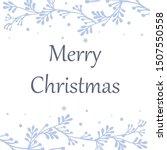 design for greeting card merry... | Shutterstock .eps vector #1507550558