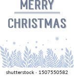 greeting card merry christmas ... | Shutterstock .eps vector #1507550582