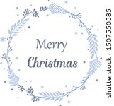 greeting card merry christmas ... | Shutterstock .eps vector #1507550585