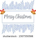 greeting card merry christmas ... | Shutterstock .eps vector #1507550588