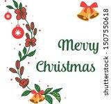 banner merry chrismas  with art ... | Shutterstock .eps vector #1507550618