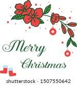 decorative border of red wreath ... | Shutterstock .eps vector #1507550642