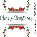 decorative border of red wreath ... | Shutterstock .eps vector #1507550645