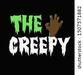 the creepy t shirt and...   Shutterstock .eps vector #1507571882