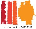 grunge paint roller strokes | Shutterstock .eps vector #150757292