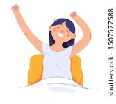 young women wake up in the... | Shutterstock .eps vector #1507577588