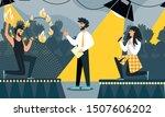 creative battle or talent show... | Shutterstock .eps vector #1507606202