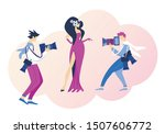 famous glamour actress... | Shutterstock .eps vector #1507606772