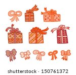 set of gift boxes icons | Shutterstock .eps vector #150761372