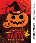 poster of party for halloween... | Shutterstock .eps vector #1507620212