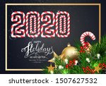 holidays greeting card for... | Shutterstock .eps vector #1507627532