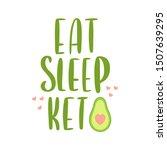 lettering phrase  eat sleep... | Shutterstock .eps vector #1507639295