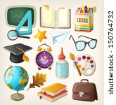 set of school items. back to... | Shutterstock .eps vector #150764732