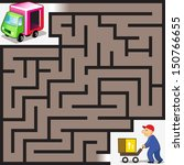 vector maze game  cargo man... | Shutterstock .eps vector #150766655