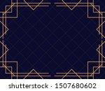 art deco frame. vintage linear... | Shutterstock .eps vector #1507680602