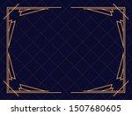 art deco frame. vintage linear... | Shutterstock .eps vector #1507680605