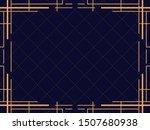 art deco frame. vintage linear... | Shutterstock .eps vector #1507680938