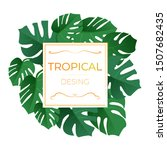 bright green exotic tropical... | Shutterstock .eps vector #1507682435