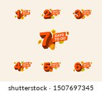 autumn promo number of days...   Shutterstock .eps vector #1507697345
