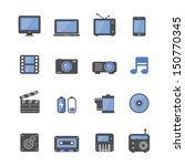 multimedia icons set. | Shutterstock . vector #150770345