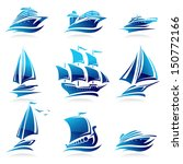 ships set. vector | Shutterstock .eps vector #150772166
