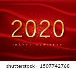 2020 happy new year. gold... | Shutterstock .eps vector #1507742768