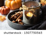 autumn or fall concept with a... | Shutterstock . vector #1507750565
