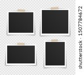 vector photo frame mockup... | Shutterstock .eps vector #1507784672