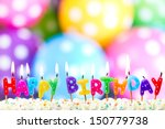 Colorful Happy Birthday Candles