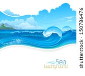 Hills And Blue Sea Waves