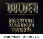 modern elegant golden font and... | Shutterstock .eps vector #1507882172