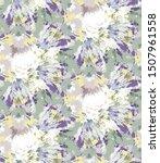 Lilac Shibori Tie Dye Sunburst...