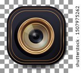 3d lens camera icon with modern ...