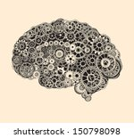 cogs in the shape of a human... | Shutterstock .eps vector #150798098