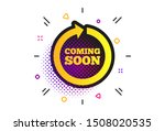 coming soon sign icon. halftone ... | Shutterstock .eps vector #1508020535