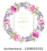 vintage garland of blooming... | Shutterstock . vector #1508055332