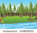 green park on a sunny day.... | Shutterstock .eps vector #1508098352