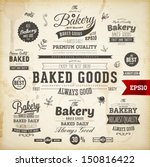 set of vintage bakery logo... | Shutterstock .eps vector #150816422
