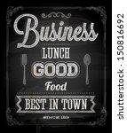 chalkboard business lunch...   Shutterstock .eps vector #150816692