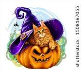Halloween Cat. Wall Sticker....
